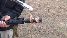 Бекон по-техасски, или Как жарить мясо с помощью винтовки М-16
