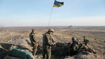 Украинские военные в Донбассе. Март 2015