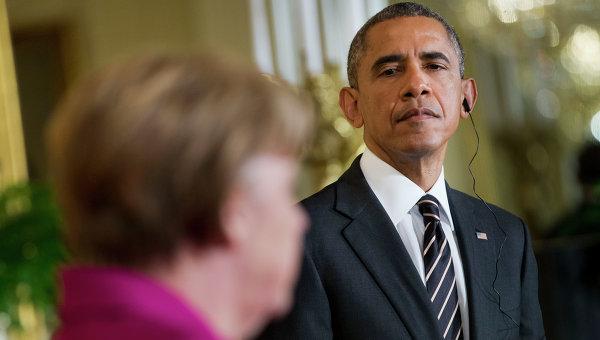 Барак Обама и Ангела Меркель, архивное фото