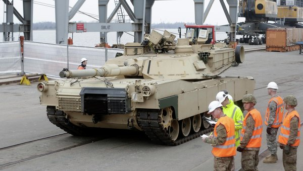 Танк армии США Abrams в Прибалтике