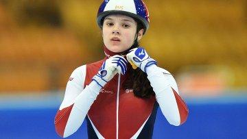 Спортсменка сборной России по шорт-треку Софья Просвирнова. Архивное фото