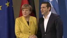 Меркель и Ципрас прокомментировали позиции своих стран по вопросу репараций
