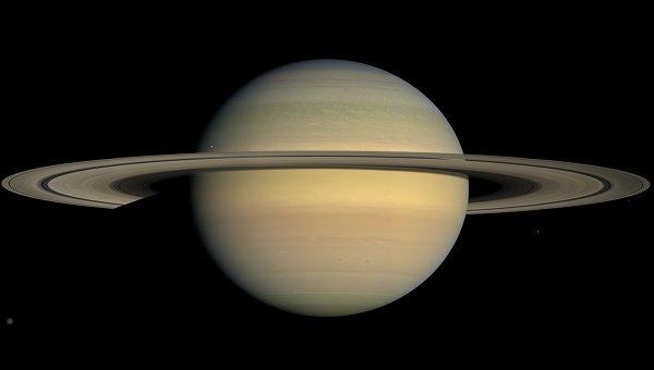 Фотография Сатурна, полученная зондом Кассини