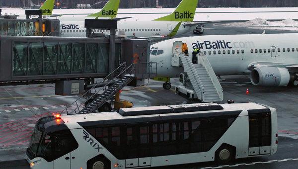 Самолеты авиакомпании АirBaltic. Архивное фото.