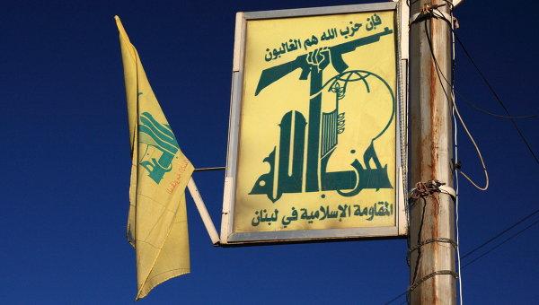 Флаг движения Хезболлах в Ливане
