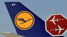 Логотип авиакомпании Lufthansa. Архивное фото