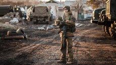 Ополченец ДНР в окрестностях Дебальцево Донецкой области. Архивное фото