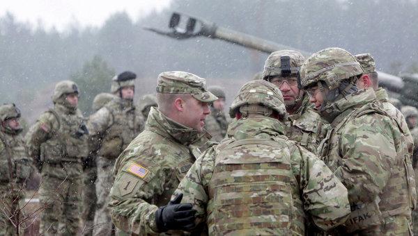 Военнослужащие блока НАТО принимают участие в военных учениях Operation Summer Shield на полигоне Адажи в Латвии. Архивное фото