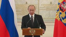 Путин назвал количество задержанных ФСБ РФ боевиков в 2015 году