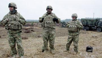 Военнослужащие блока НАТО принимают участие в военных учениях в Латвии. Архивное фото