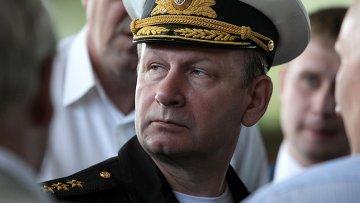 Главнокомандующий военно-морским флотом РФ адмирал Виктор Чирков. Архивное фото