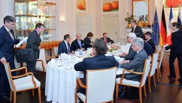 Встреча глав МИД нормандской четверки в Берлине 13 апреля 2015. Архивное фото