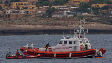 Судно береговой охраны Италии. Архивное фото