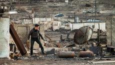 Житель наиболее пострадавшего поселка Шира Республики Хакасия. Архивное фото