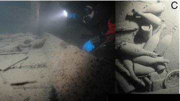 Бутылки Вдовы Клико, найденные на дне Балтики в 2010 году