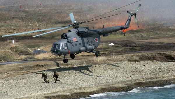Учения морской пехоты Тихоокеанского флота в Приморском крае. Архивное фото