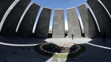 Вечный огонь Мемориала жертв геноцида армян Цицернакаберд