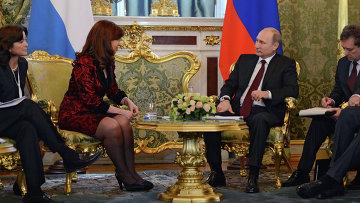 Встреча президента РФ В.Путина с Президентом Аргентины К. Фернандес де Киршнер