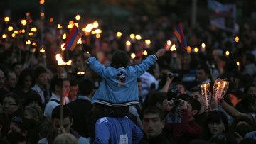 Шествие памяти жертв геноцида армян 1915 года