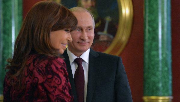 Встреча президента РФ В.Путина с президентом Аргентины К.Фернандес де Киршнер. Архивное фото