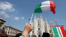 Флаги Италии. Архивное фото