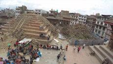 Столица Непала до и после землетрясения. Съемка с беспилотника