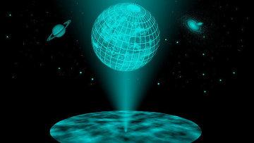 Так художник представил себе Вселенную-голограмму