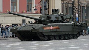Танк Т-14 на гусеничной платформе Армата. Архивное фото.