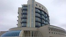 Шайба - здание штаба Роскосмоса. Архивное фото