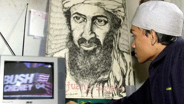 Портрет Усама бен Ладена. Джакарта, 2004 год
