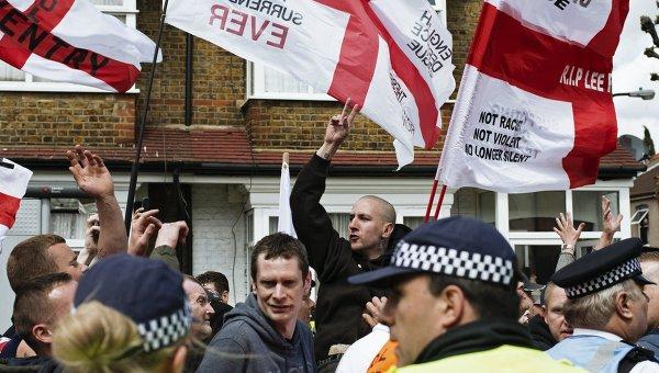 Марш против исламизации в Лондоне