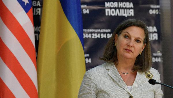 Помощник госсекретаря США Виктория Нуланд в Киеве. Архивное фото