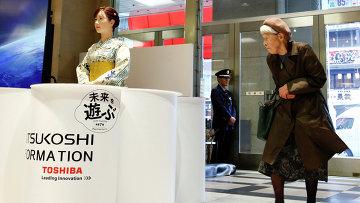 Человекоподобный робот Aiko Chihira, разработка Toshiba