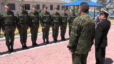 Прощание славянки и молитва на плацу – первый крымский призыв в армию РФ