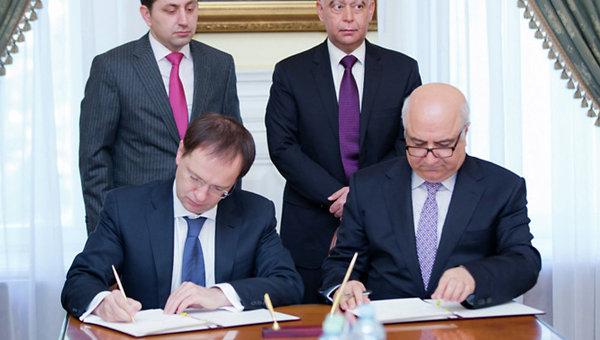 Министры культуры России и Ирака Владимир Мединский и Фарьяд Мухаммед Равандози