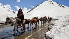 Кочевники в горах Кашмира. Архивное фото