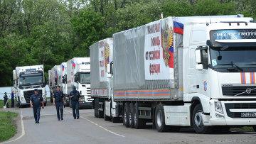 Гуманитарный конвой России для юго-востока Украины. Архивное фото