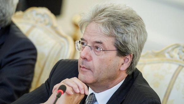 Министр иностранных дел и международного сотрудничества Италии Паоло Джентилони. Архивное фото