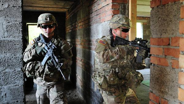 Американские военные во время совместных учений с армией Украины Fearless Guardian. Архивное фото