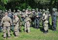 Украинские и американские военные во время учений Fearless Guardian