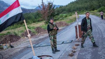 Сирийские военные на блокпосту. Архивное фото
