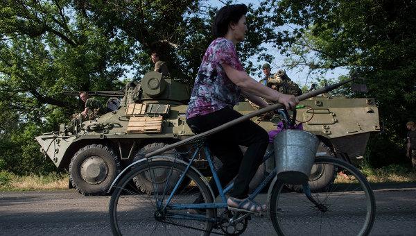 Силы ВСУ в Марьинке. Архивное фото