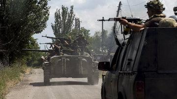 Войска ВСУ возле села Марьинка