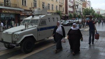 Турецкая полиция в курдском городе Диярбакыре. Архивное фото