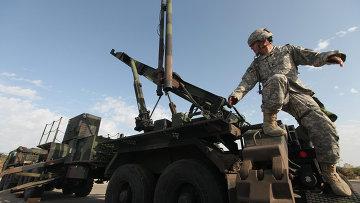 Армейский зенитно-ракетный комплекс Patriot вооруженных сил США. Архивное фото