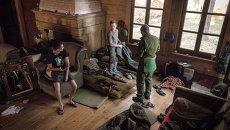 Позиции ополчения под поселком Марьинка в Донецкой области