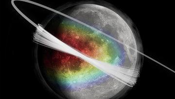 Так художник представил себе процесс рождения облака пыли над Луной