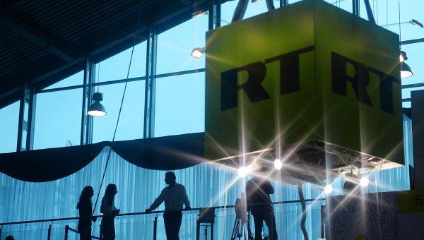 Куб с логотипом телеканала Russia Today. Архивное фото