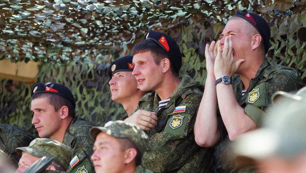 Военнослужащие на соревнованиях. Архивное фото
