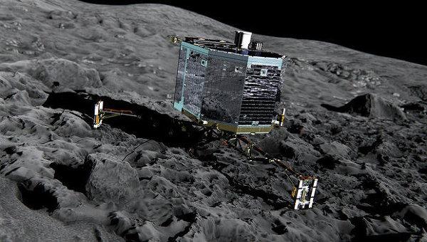 Так может выглядеть модуль «Фила» на поверхности кометы Чурюмова-Герасименко